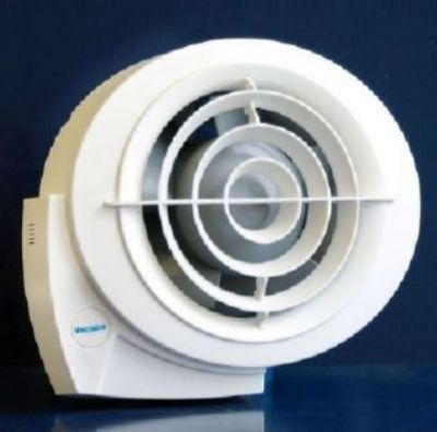 VECTAIRE 'E-SMILE' HIGH PERFORMANCE WET ROOM WHITE 2 SPEED, HUMIDISTAT, CORD or REMOTE 10cm FAN, ES100H2C