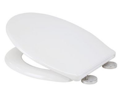 CLEARANCE CROYDEX CONSTANCE FLEXI FIX WHITE SOFT CLOSE TOILET SEAT, WL601722H