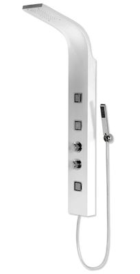 SPECIAL OFFER CASSELLIE LUNA THERMOSTATIC WHITE/CHROME SHOWER PANEL/TOWER, WSP002